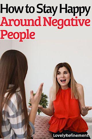 ways to stay positive around negativity