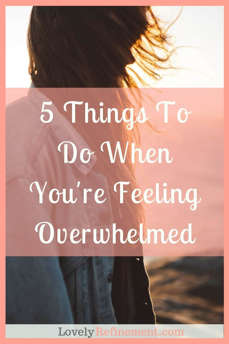 We all get overwhelmed sometimes. There are moments when everything hits the fan at once, and things go downhill quick. Instead of hiding under the covers until it all goes away, here are some ways to deal with being overwhelmed.