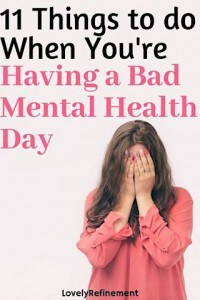 what to do when having a bad mental health day