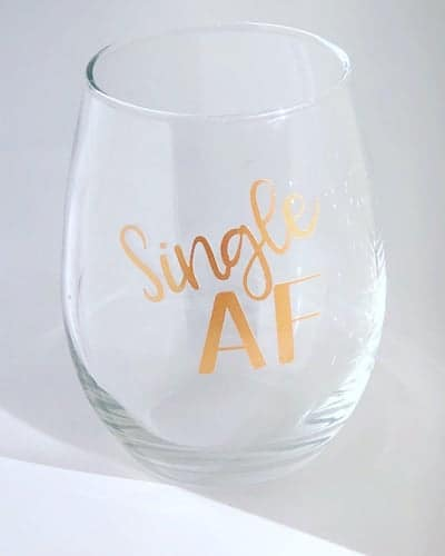 single af wine glasses gifts